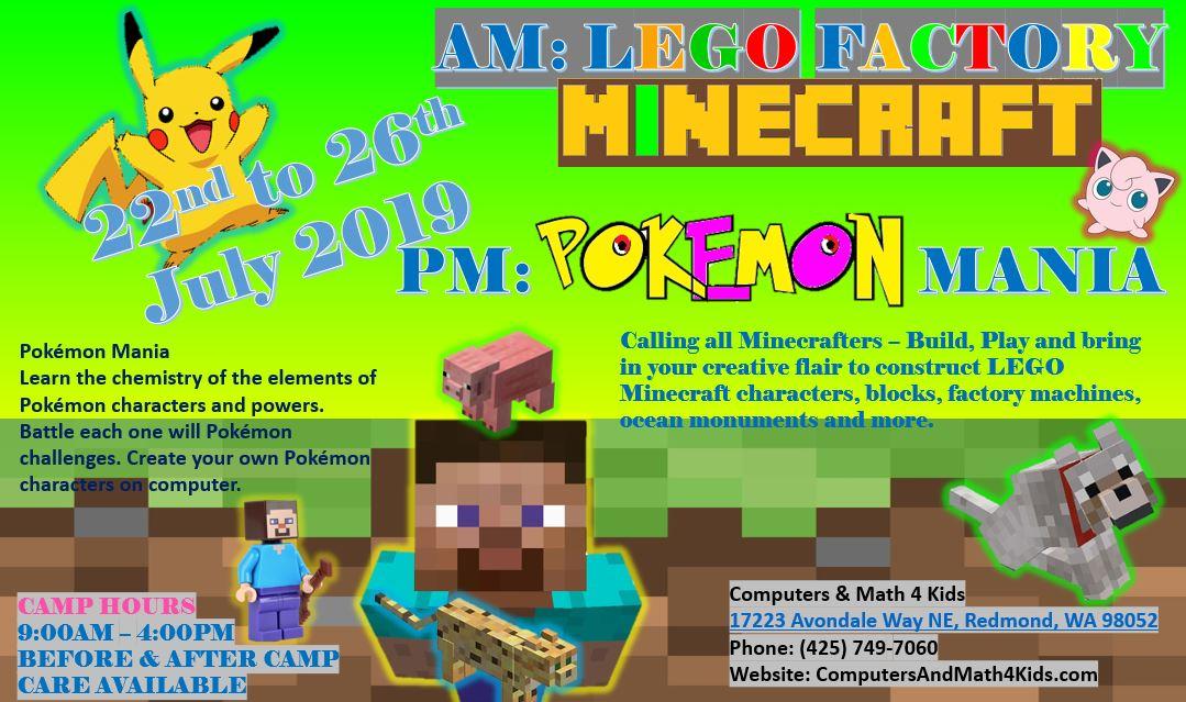 Copy of AM: LEGO FACTORY Minecraft & PM: Pokemon Mania